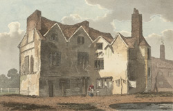 Old House. Formerly the occasional residence of Henry the Eighth at Newington Green, Middlesex